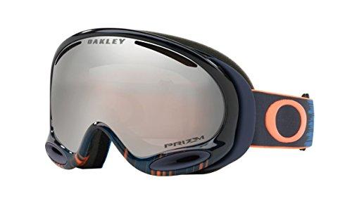 Oakley A-Frame 2.0 Snow Goggles, Wet Dry Blue/Orange Frame, Prizm Black Iridium Lens, - Black A Oakley Iridium Frame