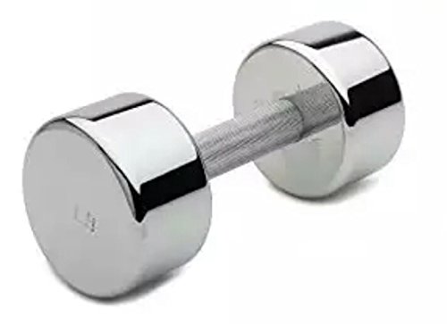 Arnav Steel Chrome Fixed Weight Dumbell One Pcs of 2 Kg Only Home Gym and Fitness Dumbbells