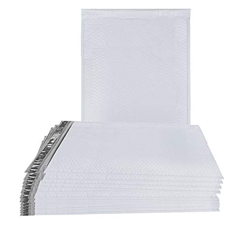 Poly Bubble Mailers 14x19 Airjackets Padded envelopes 14 x 19. Pack of 10 white XL large cushion envelopes. Dual Peel and Seal & Zip tear strip. Shipping, mailing. Reusable Air jackets.