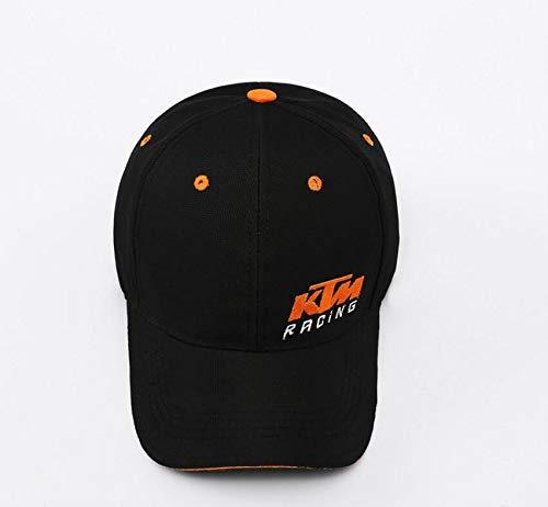 HGDFGDRR Excelente calidad Moda KTM bordado Hiphop Gorra de béisbol Racing Hat (Negro)