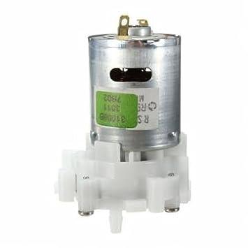rs-360 de engranaje reversible del motor de bombeo de agua de la bomba de acuario mini-dc 4-12v: Amazon.es: Electrónica
