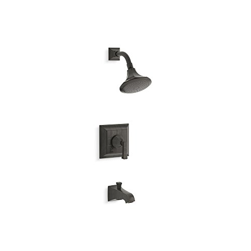 KOHLER TS461-4V-2BZ Memoirs(R) Stately Rite-Temp(R) bath and shower valve trim with Deco lever handle, spout and 2.5 gpm showerhead