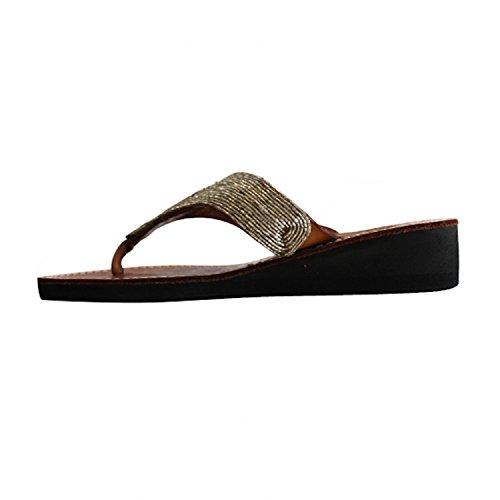 Aspiga Heel Sandal Flip Daniela Flops Wedge Silver FFzn1r5