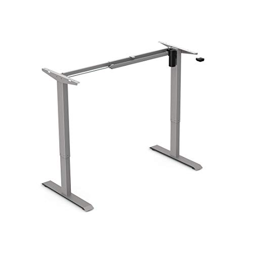 Flexispot EC1S Height Adjustable Desk Frame Electric Sit Stand Desk Base Home Office Stand up Desk Gray Frame ONLY