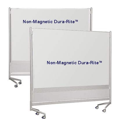 Best-Rite D.O.C. Partition and Display Panel Reversible Markerboard - Porcelain Steel on Both Sides 6'H x 6'W