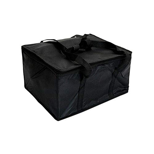 - Insulated Food Delivery Bag Black Food Packing Nylon Bag 16in x 13in x 9in Quality Thermal Insulated Food Carry Bag for Food Delivery Companies Perfect Pizza Delivery Bag