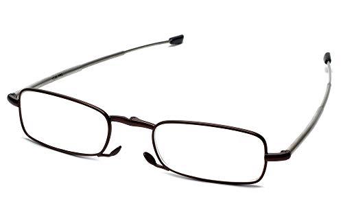Calabria Folding Metal Reading Glasses Black/Brown/Gunmeal