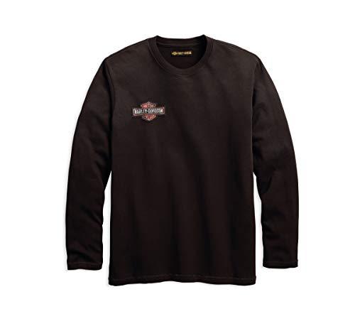 Harley Embroidered Shirt Davidson (Harley-Davidson Official Men's Embroidered Slim Fit Tee, Grey (Large))