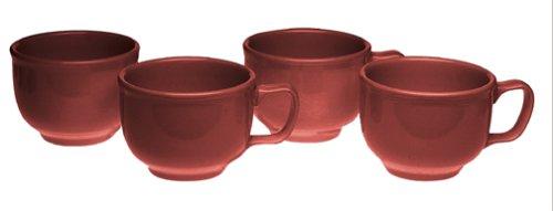 - Fiesta 18-Ounce Jumbo Cups, Set of 4, Cinnabar