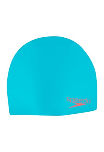 Speedo Elastomeric Solid Silicone Swim Cap, Mystic Teal, One - Cap Swim Silicone