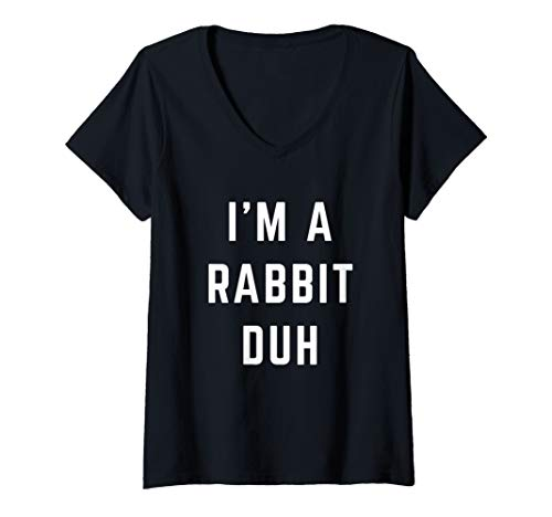 Giant Rabbit Costumes Scary - Womens I'm a Rabbit Duh Easy