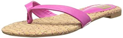 DV by Dolce Vita Women's Donni Flip Flop,Hot Pink/Cork,6 M US