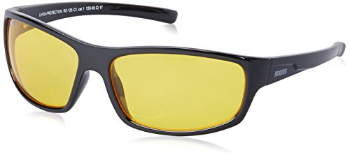 MTV Roadies Unisex Sporty Wrap-Around Protective Light Weight with 100% UV Blocking Shatterproof Polycarbonate Lens Sunglasses RD-125 (Ambermatic Yellow, Ambermatic - Yellow Ambermatic