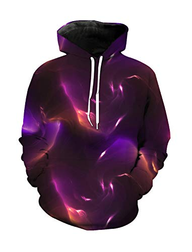 WAZZIT Unisex 3D Printed Long Sleeve Hoodies Hooded Casual Sweatshirts Pocket Pullover, XL ()