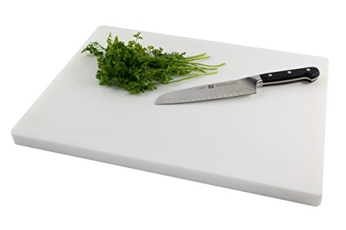 Restaurant Thick White Plastic Cutting Board, Large 20 x 15 x 1 Inch, NSF FDA Approved