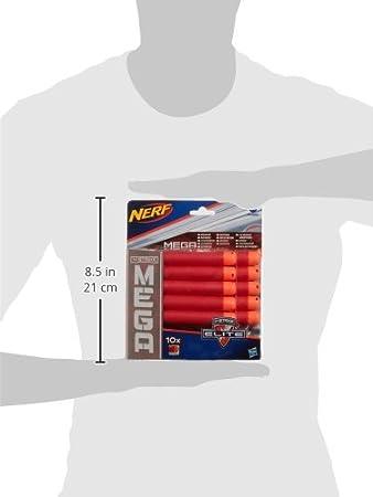 Nerf - N-Strike Mega - Set de 10 Dardos (Hasbro A4368): Amazon.es: Juguetes y juegos