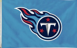 NFL Tennessee Titans 3-Foot-by-5-Foot Banner Flag