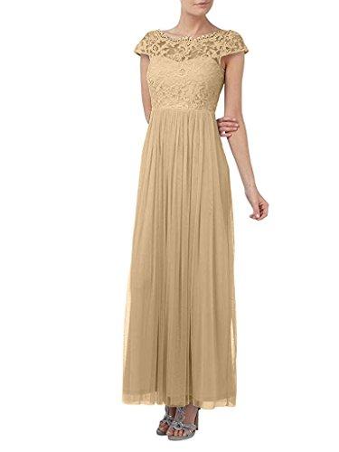Spitze Langes mia La Glamour Abendkleider Braut Festlichkleider Ballkleider Champagner A Kurzarm Rock Linie Brautmutterkleider aZwqztw