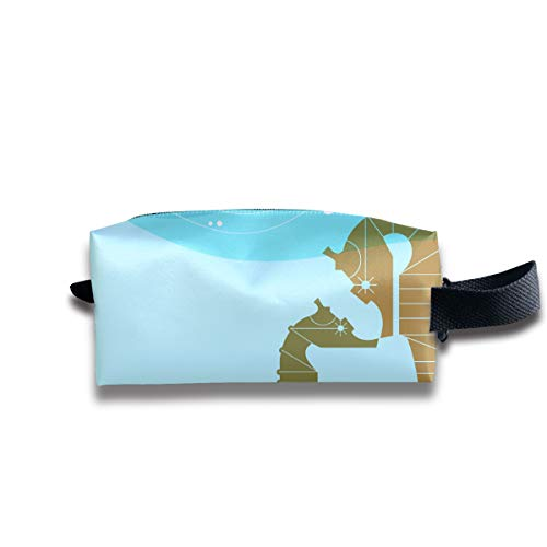 Toiletry Bag Sea Horse Shaving Cosmetic Makeup Storage Travel Sundry Sewing Organizer Portable With Handle