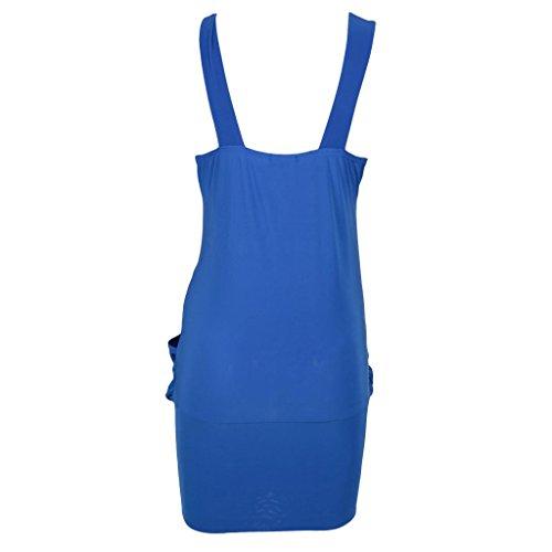 haut Robe Bleu Bleu pour de pour femme 8 fte femme Sexy 20 Broche robe Mini Drape 6vPHqH