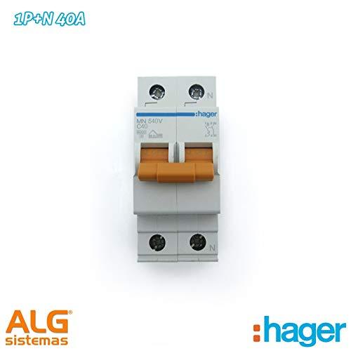 Interruptor autom/ático MN unipolar Hager Serie MN Neutro 40a Curva-c