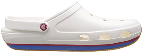 Crocs Unisex Adults' Retro Clogs White (White/Red) ml1B2d