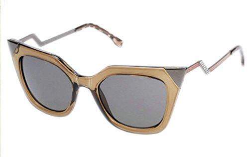 Fanala Fashion Vintage Sunglasses Square Frame Big Lens Eyewear Shades Glasses