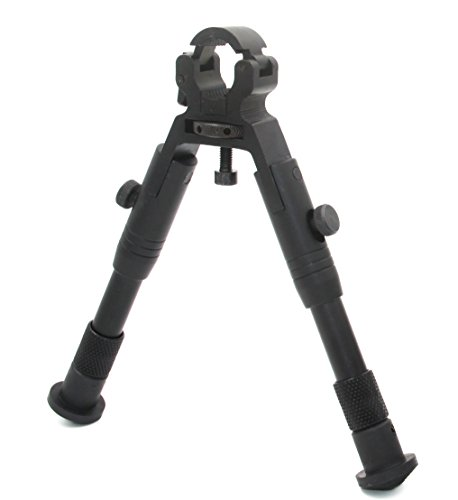 JINSE Tactical Bipod Dragon Claw Clamp-on Folding Rubber Feet Height 6.5