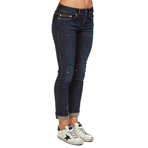 DONDUP Femme Coton P692DS0112T58T800 Bleu Jeans qSadqrwx