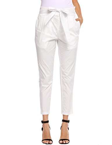 [Straight Leg Casual Twill Pant] (Stretch Twill Straight Leg Cropped Pants)