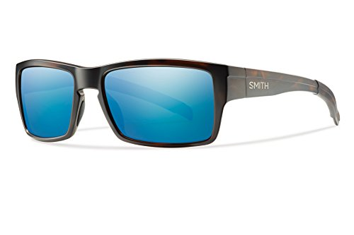 Smith Optics Outlier Sunglass with Sol-X Carbonic TLT Lenses, Matte Tortoise/Polar Blue
