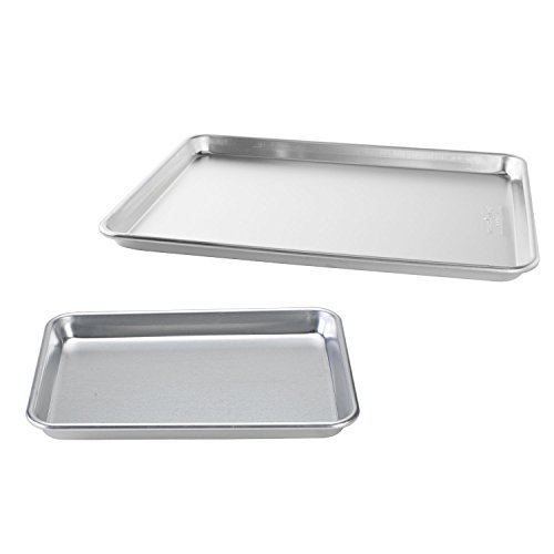 Nordic Ware Natural Aluminum Commercial Baker's Half Sheet and Baker's Quarter Sheet by Nordic Ware by Nordic Ware