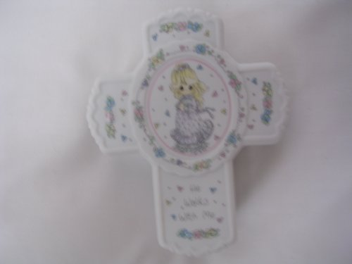 Precious Moments Confirmation 1st Communion Girl Bible Cross Shaped Covered Box 246638 Collectible Communion Girl Covered Box