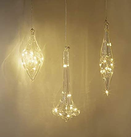 the latest 304f1 c6516 Amazon.com: LampLust Glass Finial Christmas Ornaments ...