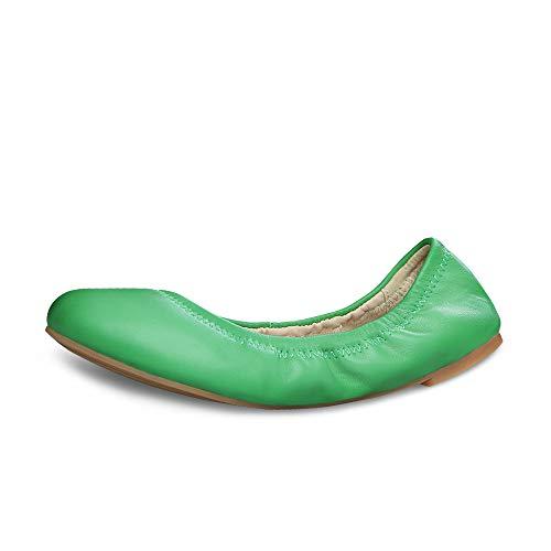 Ballet Mujer Espejo Ante Verde De Xielong RZCqdwRa
