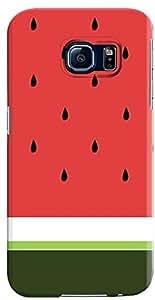 Stylizedd Samsung Galaxy S6 Premium Slim Snap case cover Gloss Finish - Minimal Watermelon