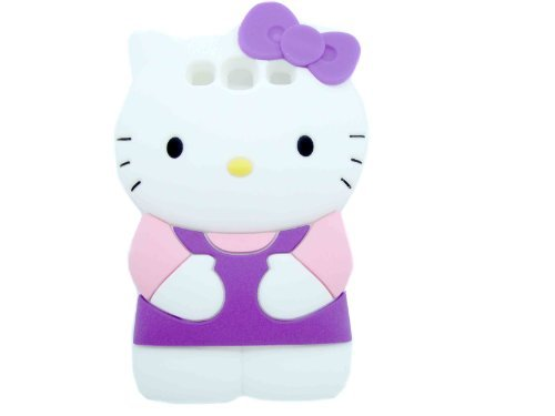 3D Sanrio- Hello Kitty Case/cover/protector Purple Ribbon with Light Pink and Purple Outfit Fits for Samsung I9300 Galaxy S3 III