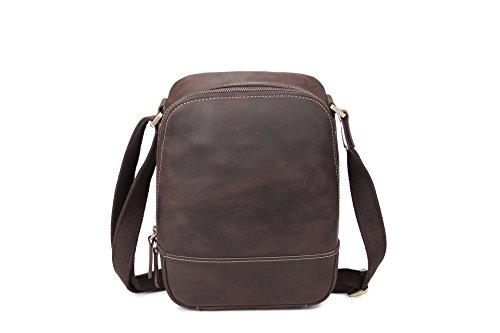 Meoaeo Un Nuevo Y Único Bolso Satchel Bag Estilo Para Hombres Y Mujeres De Color Marrón Rojizo Dark brown