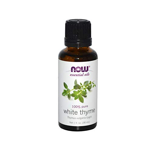 (NOW Essential Oils, White Thyme Oil, Empowering Aromatherapy Scent, Steam Distilled, 100% Pure, Vegan, 1-Ounce)