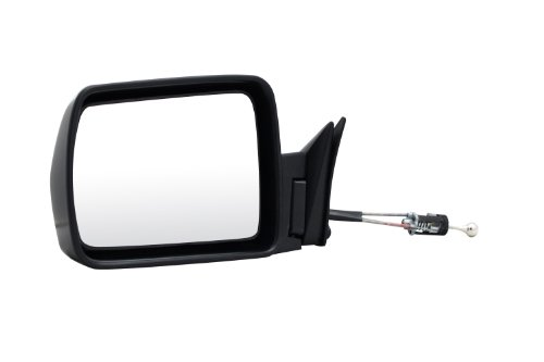 Pilot JP7509410-2L00 Jeep Cherokee Black Manual Remote Replacement Driver Side Mirror
