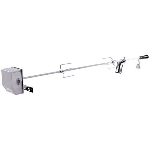 """CWY 47"""" Square Spit Rod Universal Rotisserie Kit for Most Burner Grills + FREE E - Book"""