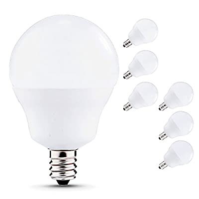 JCase LED Globe Light Bulbs Candelabra Base, 5W (40W Incandescent Equivalent), 3000K
