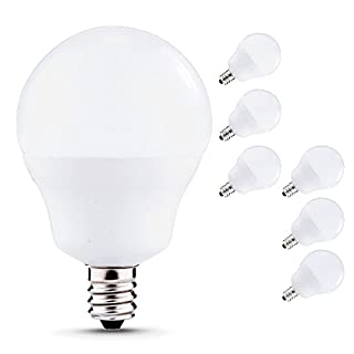 JCase LED Globe Light Bulbs Candelabra Base, 5W (40W Incandescent  Equivalent), 450lm