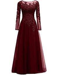 Plus Size Lace Tulle Appliques Beads Mother of The Bride Dress Elegant Evening Gown