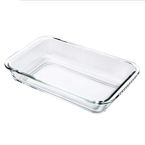 1 piece Clear Oblong Toughened Glass Baking Dishes Pan Oven Basics Plate Bakeware Non-Stick Kitchen Tool Cheese Rice Tray