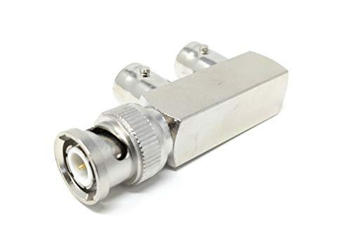 BNC Male to 2 x BNC Female Video Adapter Splitter ()