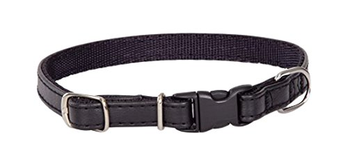Dingo Basic Dog Collar with Plastic Safe Buckle Delicate and Durable Handmade Black 13064