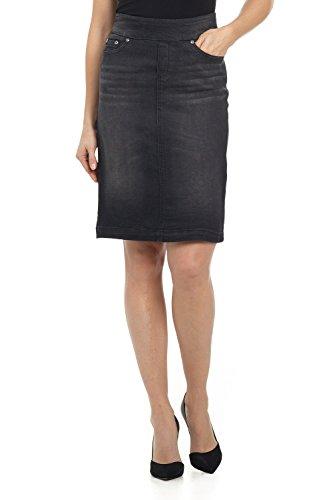 Stretch Denim Straight Skirt - 2