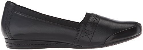 Cobb Hill Gigi Flat Black Van Rockport Dames