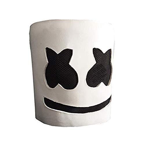 jiistar Halloween DJ Costume Mask Party Props Helmet Hard Latex Solid Scary Horror Masks ()